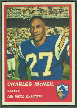Charles McNeil 1963 Fleer football card