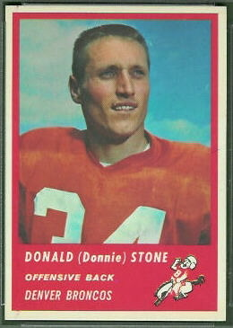 Don Stone 1963 Fleer football card