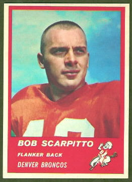 Bob Scarpitto 1963 Fleer football card