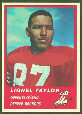 Lionel Taylor 1963 Fleer football card