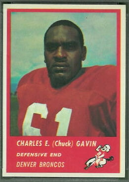 Chuck Gavin 1963 Fleer rookie football card