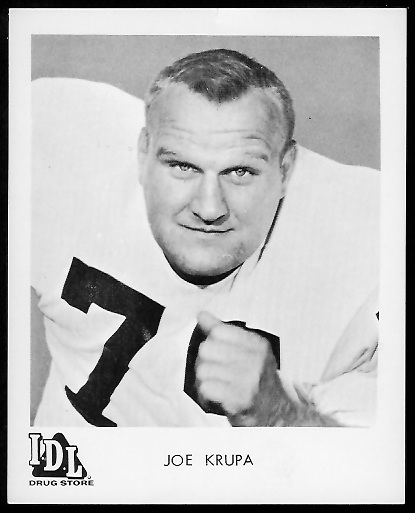 Joe Krupa 1963 IDL Steelers football card