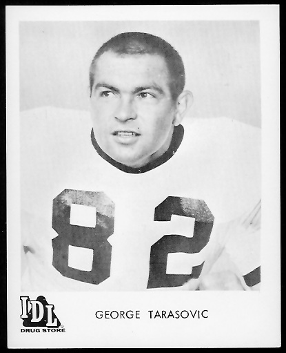 George Tarasovic 1963 IDL Steelers football card