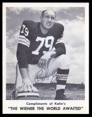 Bob Gain 1963 Kahns football card