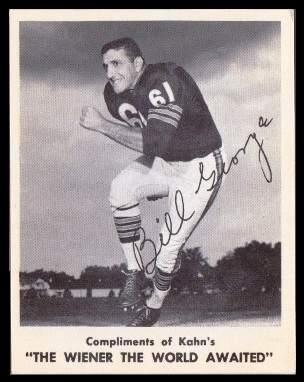 Bill George 1963 Kahns football card