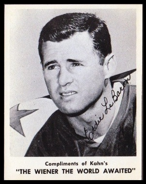 Eddie LeBaron 1963 Kahns football card