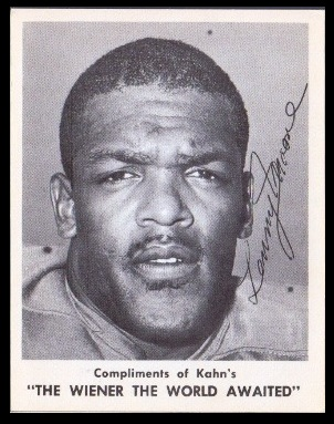 Lenny Moore 1963 Kahns football card