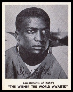 Don Perkins 1963 Kahns football card