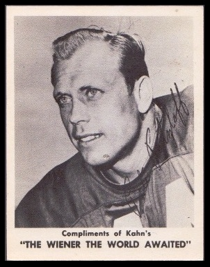 Pete Retzlaff 1963 Kahns football card