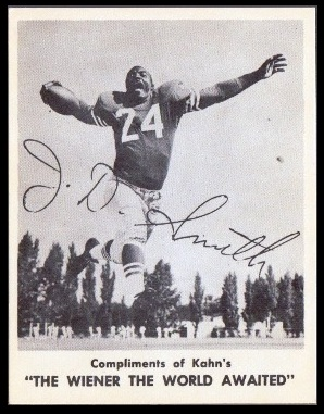 J.D. Smith 1963 Kahns football card
