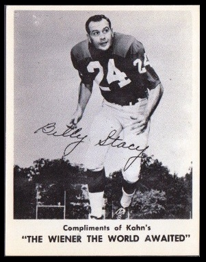 Bill Stacy 1963 Kahns football card