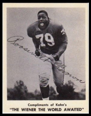 Roosevelt Brown 1963 Kahns football card