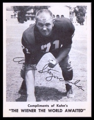 Andy Stynchula 1963 Kahns football card