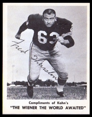 Fuzzy Thurston 1963 Kahns football card