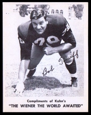 Bob Toneff 1963 Kahns football card