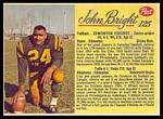 1963 Post CFL John Bright