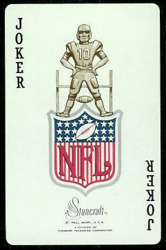 NFL Logo 1963 Stancraft football card