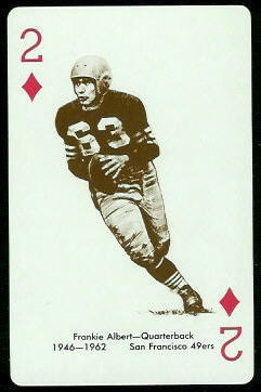 Frankie Albert 1963 Stancraft football card