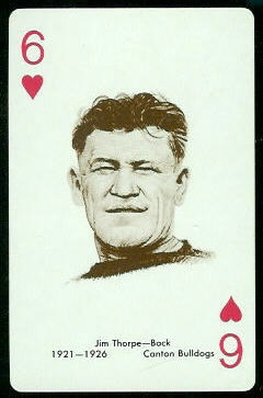 Jim Thorpe 1963 Stancraft playing card