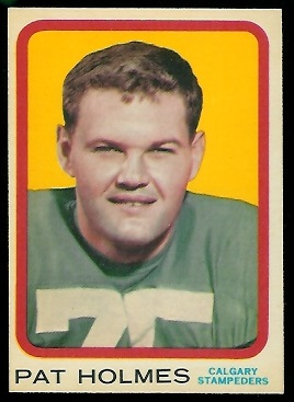 Pat Holmes 1963 Topps CFL football card