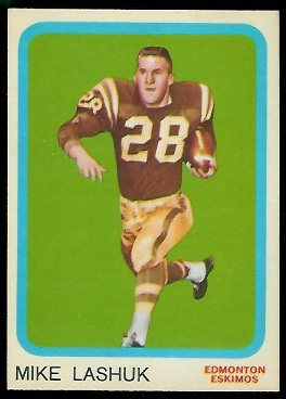 Mike Lashuk 1963 Topps CFL football card