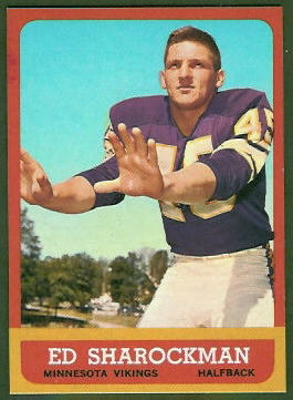 Ed Sharockman 1963 Topps football card