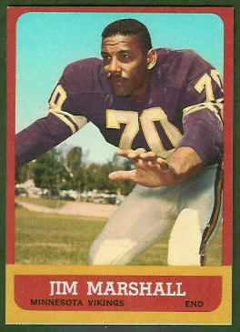 Jim Marshall 1963 Topps football card