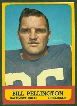 Bill Pellington 1963 Topps football card