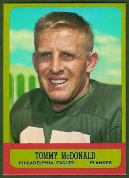Tommy McDonald 1963 Topps football card