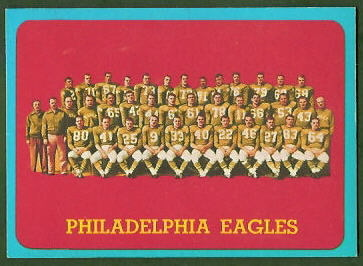 Philadelphia Eagles Team 1963 Topps football card