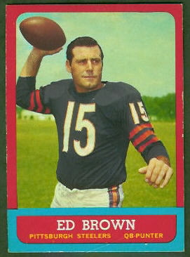 Ed Brown 1963 Topps football card