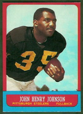 John Henry Johnson 1963 Topps football card