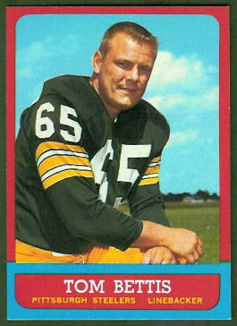 Tom Bettis 1963 Topps football card