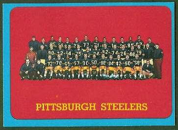 Steelers Team 1963 Topps football card