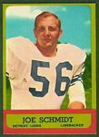 Joe Schmidt 1963 Topps football card
