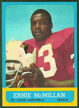 Ernie McMillan 1963 Topps football card