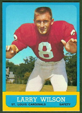 Larry Wilson 1963 Topps football card