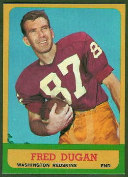 Fred Dugan 1963 Topps football card