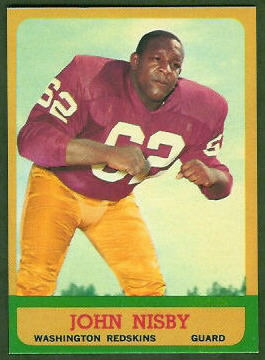 John Nisby 1963 Topps football card