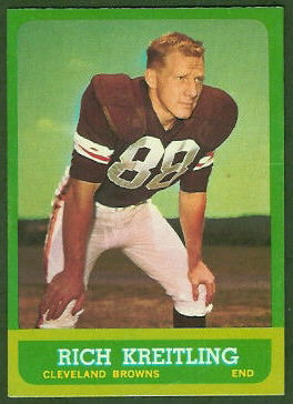Rich Kreitling 1963 Topps football card