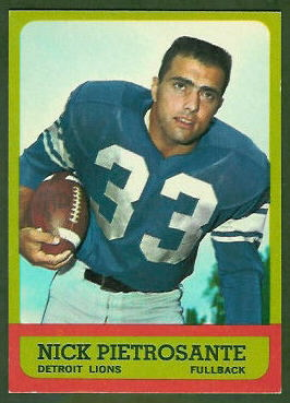 Nick Pietrosante 1963 Topps football card
