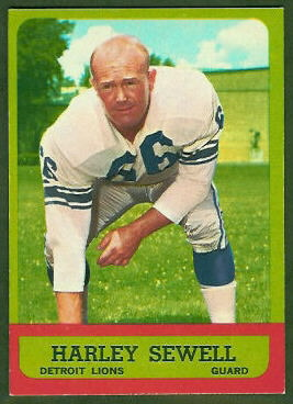 Harley Sewell 1963 Topps football card