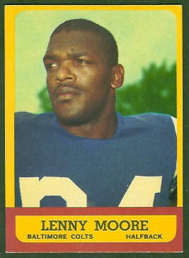 Lenny Moore 1963 Topps football card