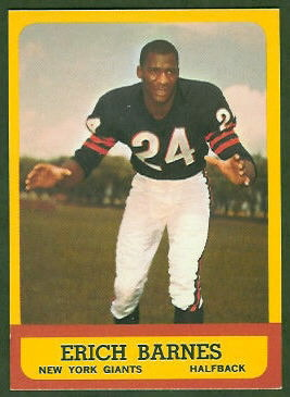 Erich Barnes 1963 Topps football card