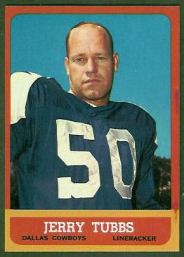 Jerry Tubbs 1963 Topps football card