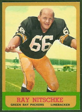 1963 Topps Ray Nitschke rookie card
