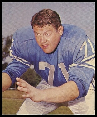 Alex Karras 1964 Kahns football card