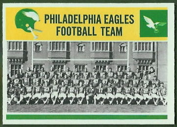 Eagles Team 1964 Philadelphia football card