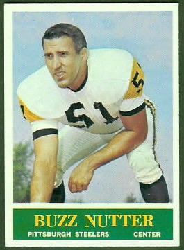 Buzz Nutter 1964 Philadelphia football card