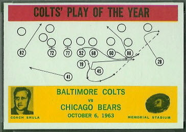 Colts Play of the Year 1964 Philadelphia football card